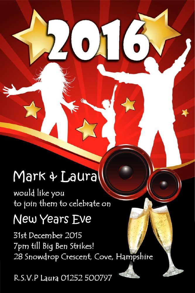 10 Personalised New Years Eve Party Invitations No5 The – New Year Party Invitations